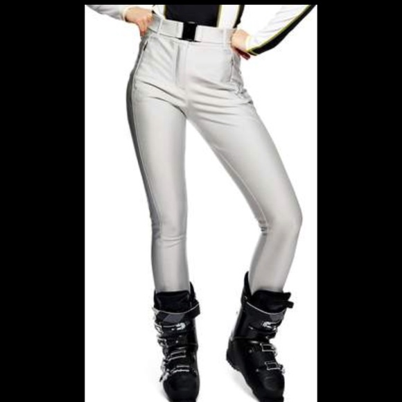 a1b1891e66935 topshop sno Pants | Alanis Metallic Silver Ski 6us | Poshmark